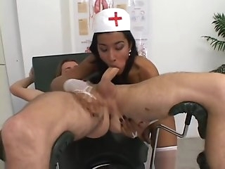 naked twink acquires TS Nurses rod