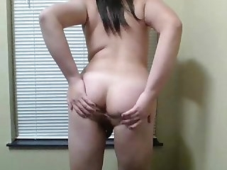 Geeky asian Ts Jerks Her Lil knob